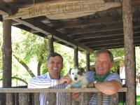 Image of Your hosts Bill, David and Peter the Dog